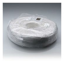 Zack Electronics 02301-R5-02 18 AWG 2 Conductor 1000ft. Roll Lamp Cord (Zip Cord) Jacket Wire - White