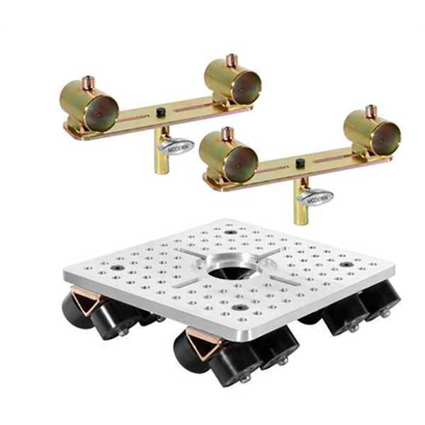 Modern Pipe Rail Slider w/ Mitchell Plate and End Brackets