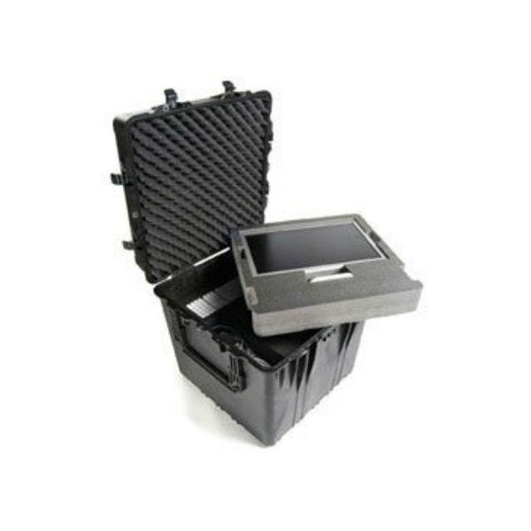 "Pelican 0374 24"" Cube Case with Padded Dividers - Black"