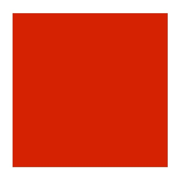 "Rosco Roscolux 25 20 x 24"" Roll - Orange Red"
