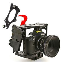 Hollywood Camera Cage Battery Bracket