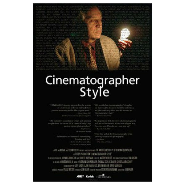 Cinematographer Style DVD BY ASC Press