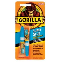 Gorilla Super Glue. Two 3g Tubes 7800102