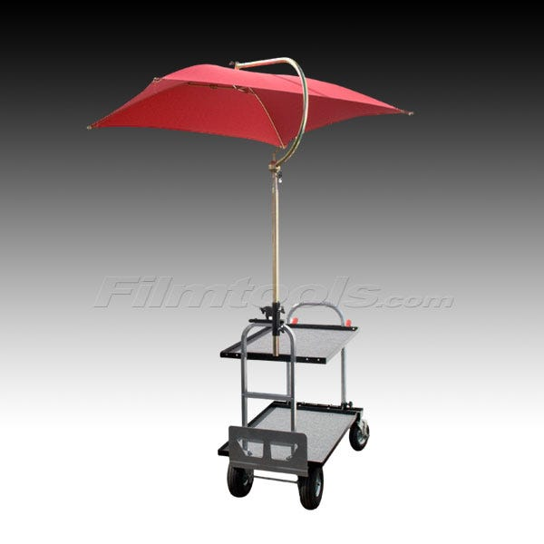 Backstage Umbrella for Filmtools and Magliner Carts - Red