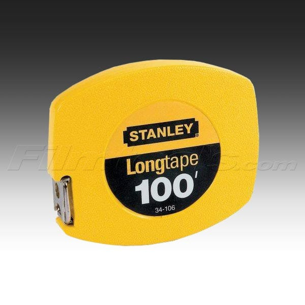 "Stanley 34-106 100ft. by 3/8"" Longtape Steep tape Measure Rule"
