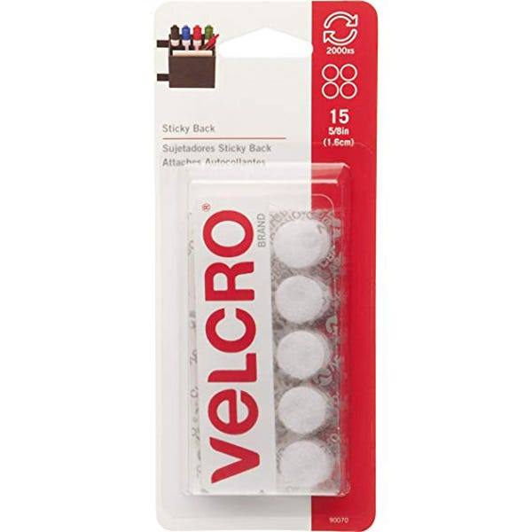 VELCRO® Brand Round Coin STICKY BACK Fasteners VEK 90070