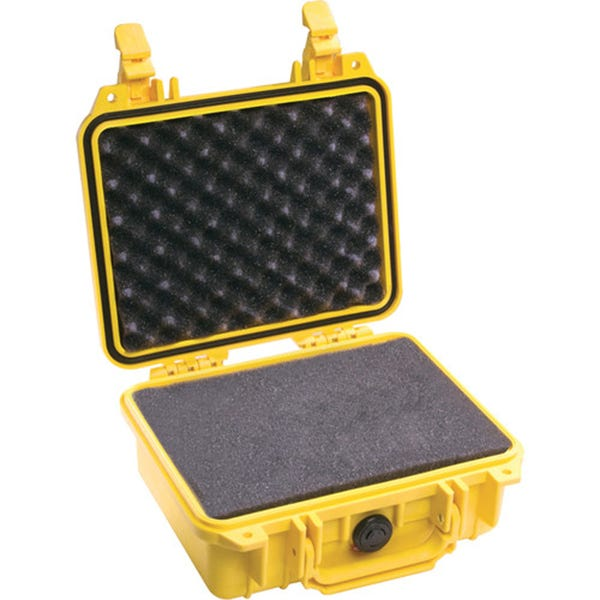 Pelican 1200 Case with Foam - Yellow