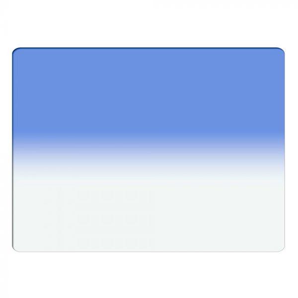 "Schneider Optics 4 x 5.65"" Graduated Sapphire Blue 2 Water White Glass Filter - Hard Edge with Horizontal Orientation"