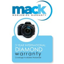 Mack Warranty 3 Year Diamond Service Contract on Cameras, Lenses and Lighting Under $750