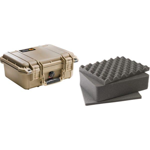 Pelican 1400 Case with Foam - Desert Tan