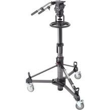 Libec Pedestal System w/ Fluid Head, Pan Handle, and Heavy Duty Dolly