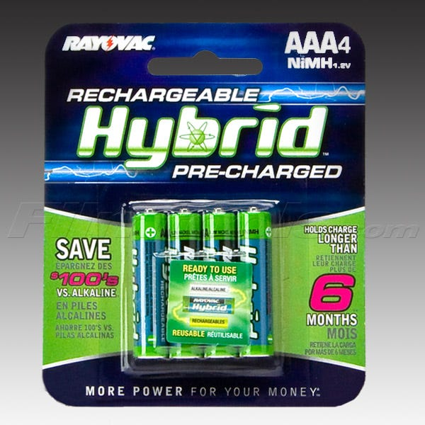 Rayovac PL724-4A Hybrid Rechargeable AAA Batteries - 4pk (Pre-Charged)