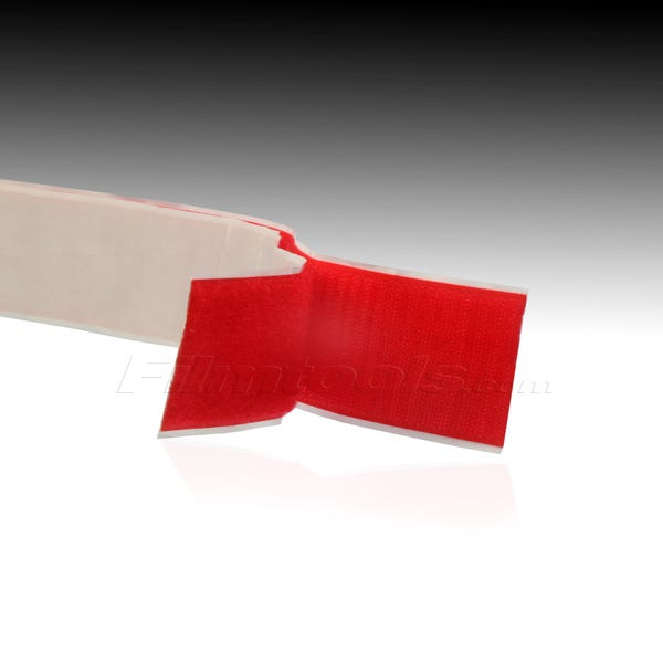 """1"""" Adhesive Backed Hook and Loop - Red R1007L - R1007H"""
