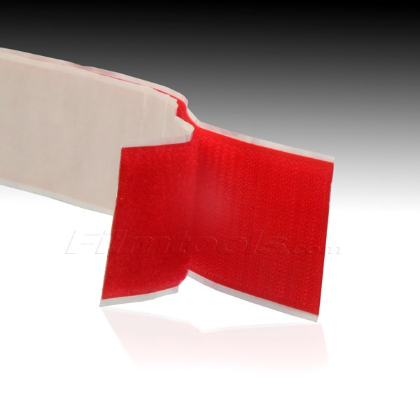 "2"" Adhesive Backed Hook and Loop - Red R2007L - R2007H"
