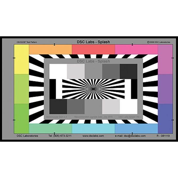 DSC Labs Splash Underwater Color / Focus Chart HSP