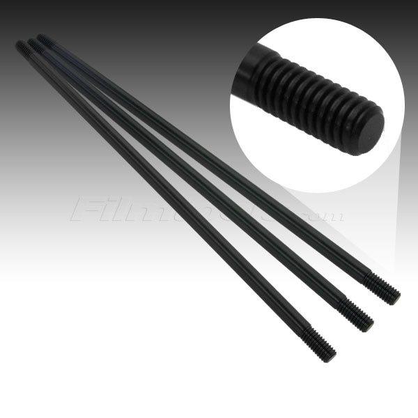 """Filmtools Teenie Weenie 3/8""""x24"""" Solid Aluminum Black Rod"""