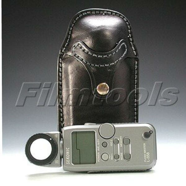 Vertical Leather Holster for Sekonic 358 Light Meter