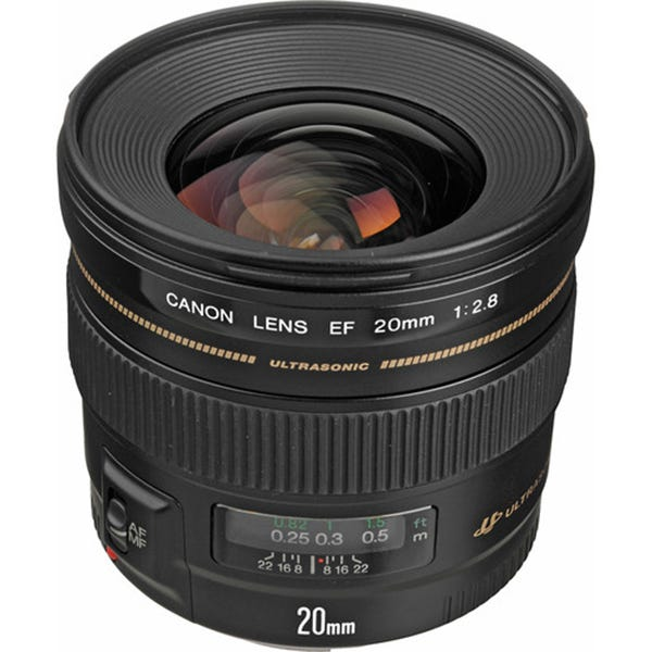 Canon 2509A003 EF Mount 20mm f/2.8 USM Wide Angle Lens