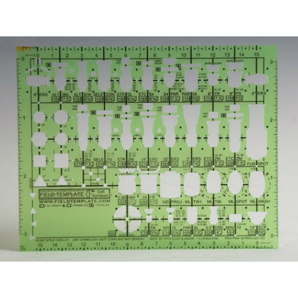 "Field Template™ 1/4"" Stage Plan Lighting Template"