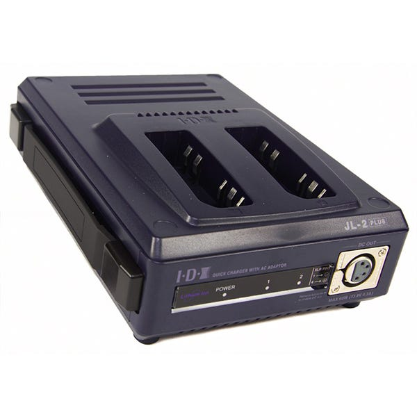 IDX JL-2PLUS 2-Channel Multi-format Sequential Battery Quick Charger for NP Type NiMH, NiCad and Lithium Ion Batteries