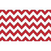 "Savage Printed Background Paper (53"" x 18', Red & White Chevron)"