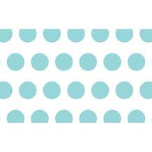 "Savage Printed Background Paper (53"" x 18', Aqua Polka Dots)"