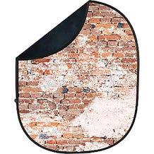 Savage Collapsible 5 x 7' Backdrop (Black/Weathered Brick)