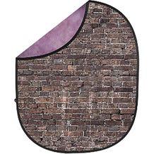 Savage Collapsible 5 x 7' Backdrop (Grunge Brick - Purple)