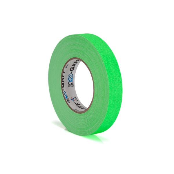 "Pro-Gaff 1"" Gaffer Tape (Camera Tape) - Fluorescent Green"