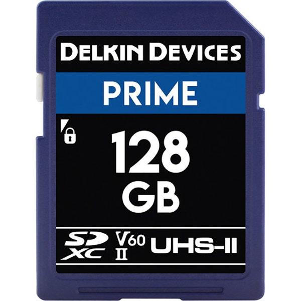 Delkin 128GB Prime UHS-II SDXC Memory Card