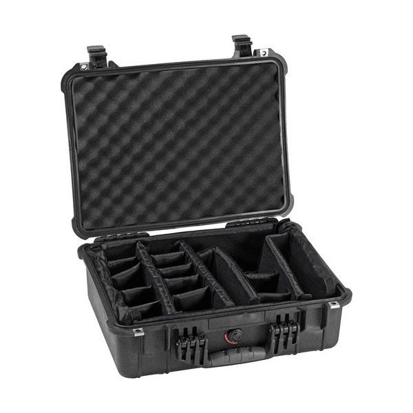 Pelican 1524 Waterproof 1520 Case with Padded Dividers - Black