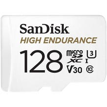 SanDisk 128GB High Endurance UHS-I microSDXC Memory Card with SD Adapter