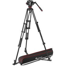 Manfrotto 504X Fluid Video Head & MVTTWINGA Aluminum Tripod with Ground Spreader