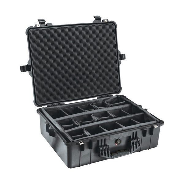 Pelican 1604 Waterproof Case with Dividers - Black