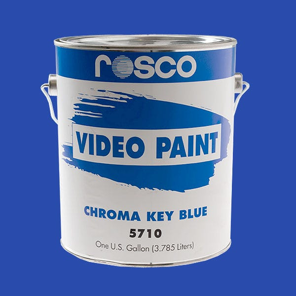 Rosco Chroma Key Blue Video Paint - 1 Gallon 5710 (Ground Only)