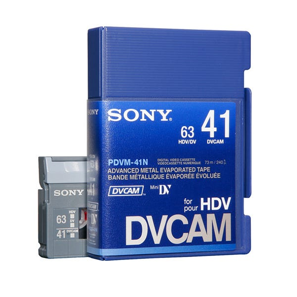 Sony PDVM41N Mini DVCAM Digital Video Tape without IC Memory Chip