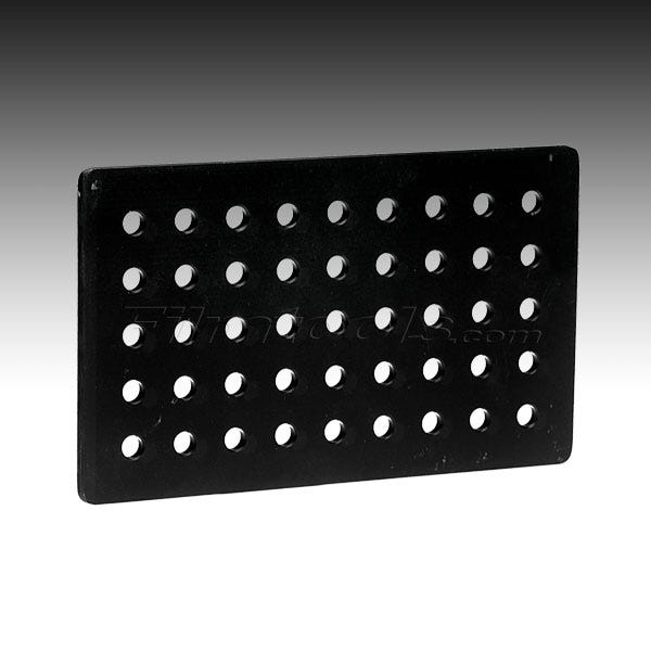 "Modern Studio Equipment 6 x 10 x 1/4"" Cheese Plate - Black"
