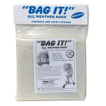 "BAG IT! 105 x 75"" 6-Mil Visqueen Bags/Tarps/Rain Covers - Large, Clear"