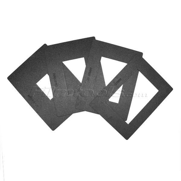 Candreva USA JC1010 Set of 4 32-180mm Hard Masks for Arri LMB4A (35mm Lenses)
