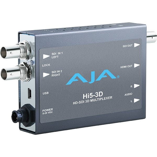 AJA Hi5-3D HD-SDI Multiplexer To HDMI 1.4a and SDI Vid/Aud Mini-Converter