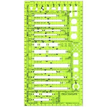 "Field Template™ 1/4"" Striplight Lighting Plan Template"