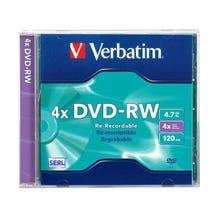 Verbatim 4X Branded 94836 DVD-RW in jewel case - 1pc