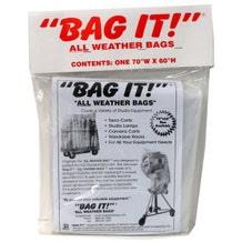 """BAG IT! 70 x 60"""" 6-Mil Visqueen Bags/Tarps/Rain Covers - Small, Clear"""