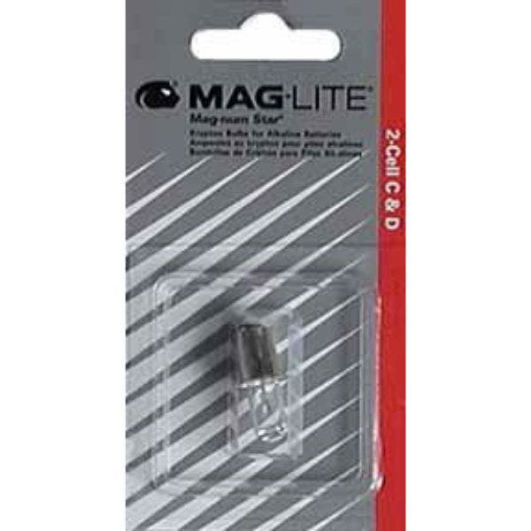 """Krypton 21-LMSA201 Replacement Bulb for Maglite Flashlights that use two """"C or D"""" Batteries."""