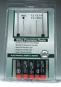 Wiha Precision Ball Tip Hex Drivers. Set of 5. METRIC