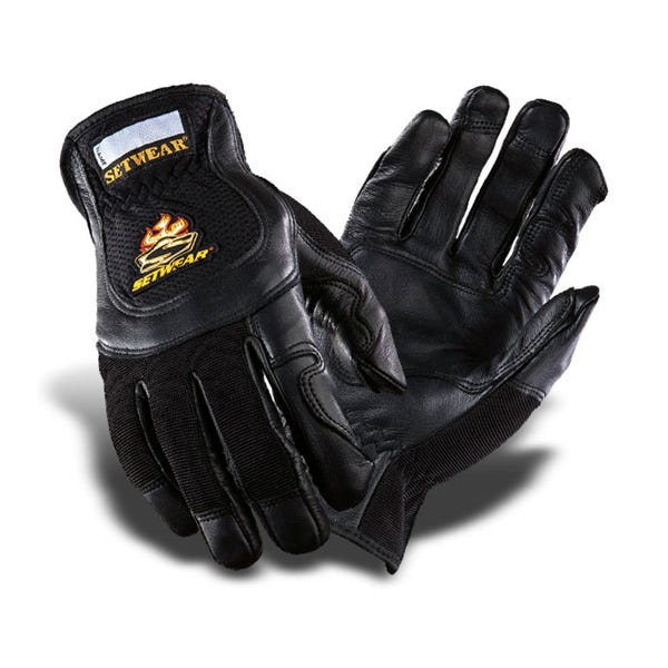 Setwear Pro Black Leather Gloves - Medium