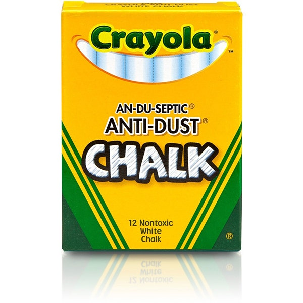 Crayola Anti-Dust White Chalk 12-Pack