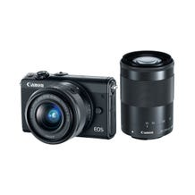 Canon EOS M100 Mirrorless Digital Camera with 15-45mm and 55-200mm Lenses - Black