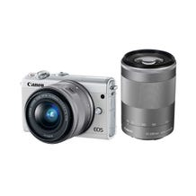 Canon EOS M100 Mirrorless Digital Camera with 15-45mm and 55-200mm Lenses - White