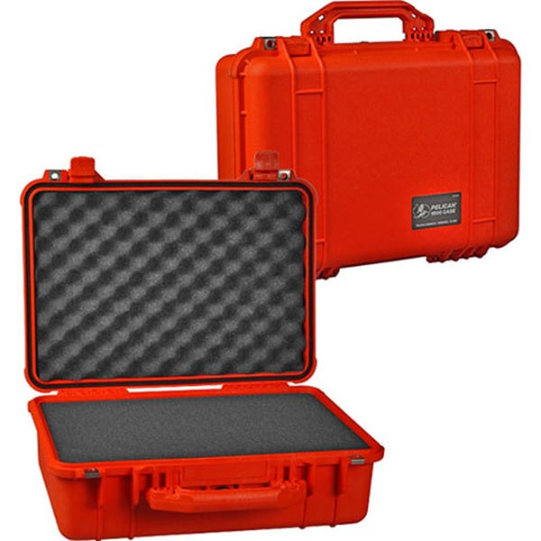 Pelican 1500 Case with Foam - Orange